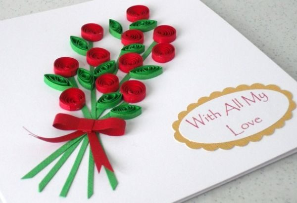 Handmade card with quilled flower bouquet an expert handmade card m4hsunfo